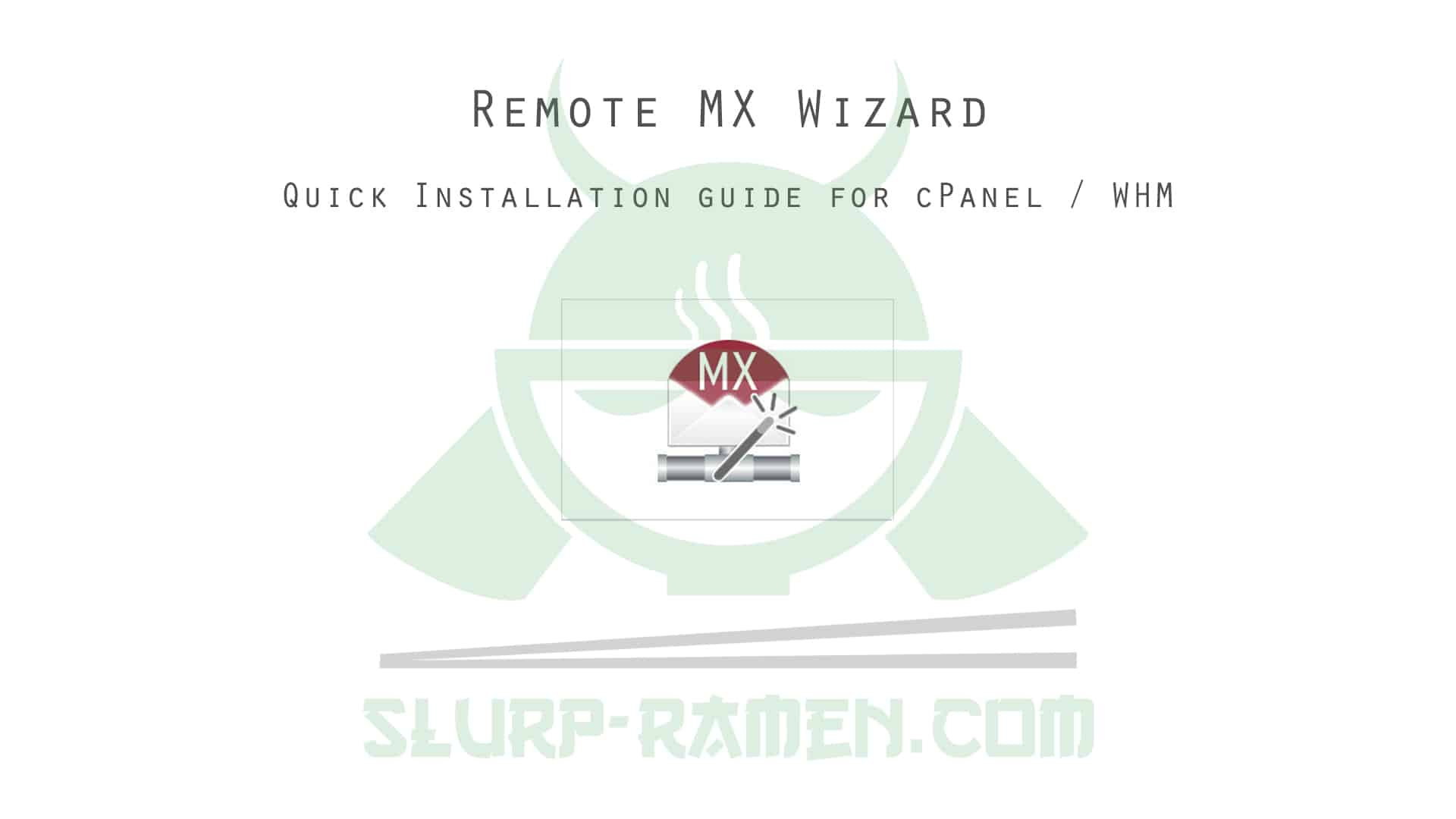 Remote MX Wizard installation for cPanel WHM