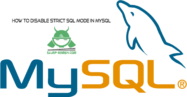 Disable strict mode in mysql